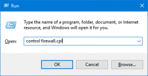 control firewall cpl command
